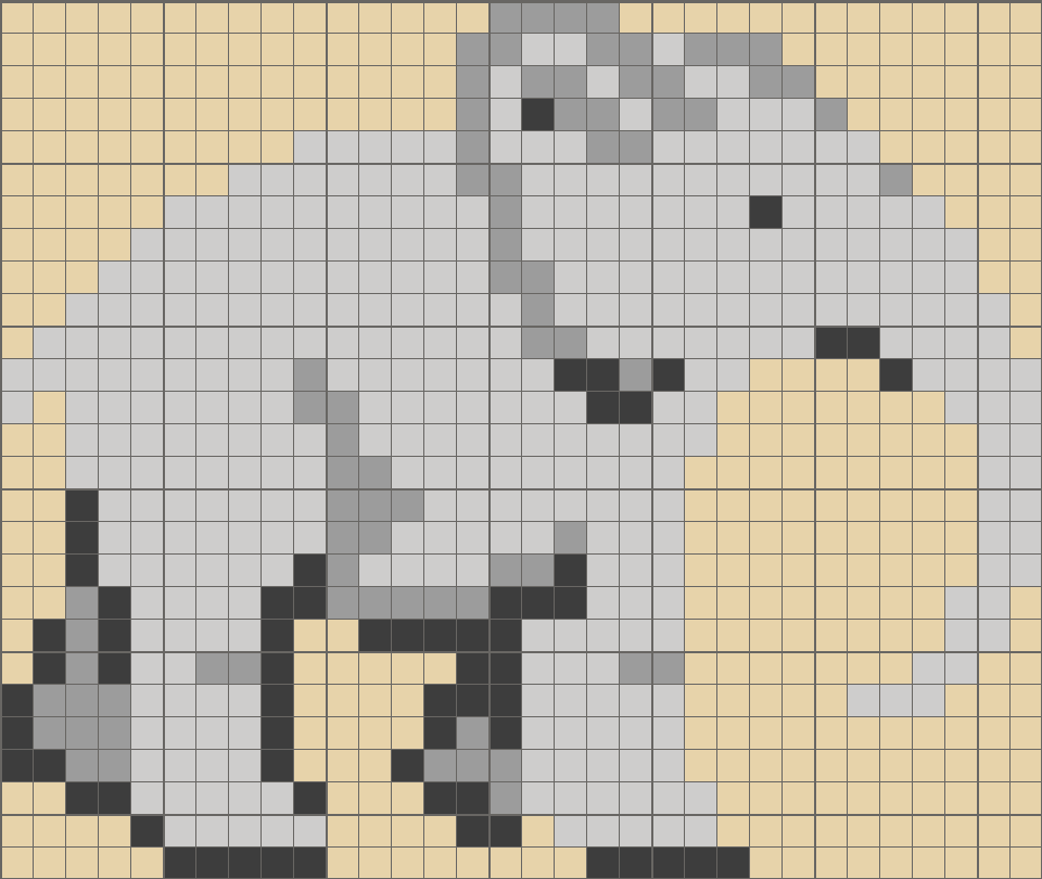 Solution for color CrossMe Level 5.21 - Elephant