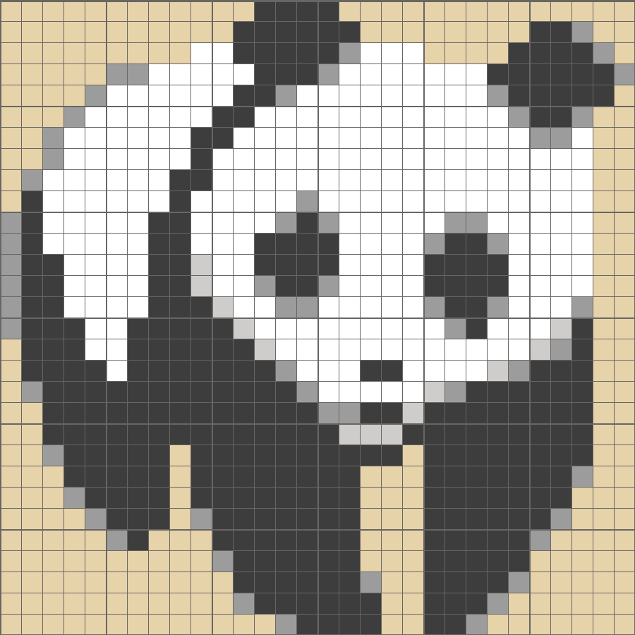 Solution for color CrossMe Level 5.22 - Panda