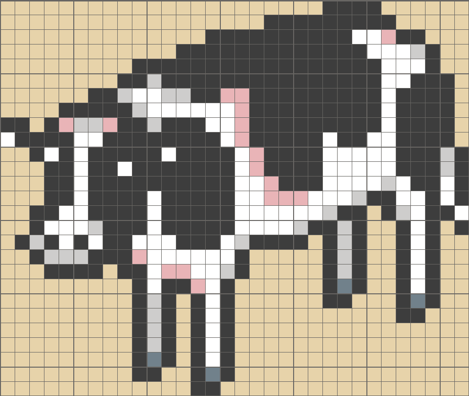 Solution for color CrossMe Level 5.51 - Cow