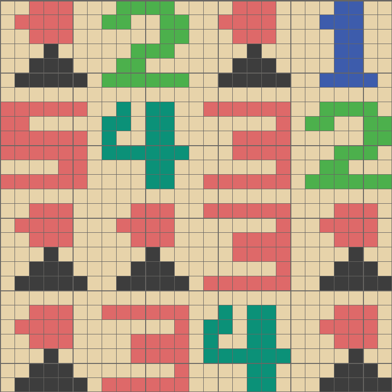 Solution for color CrossMe Level 5.56 - Game