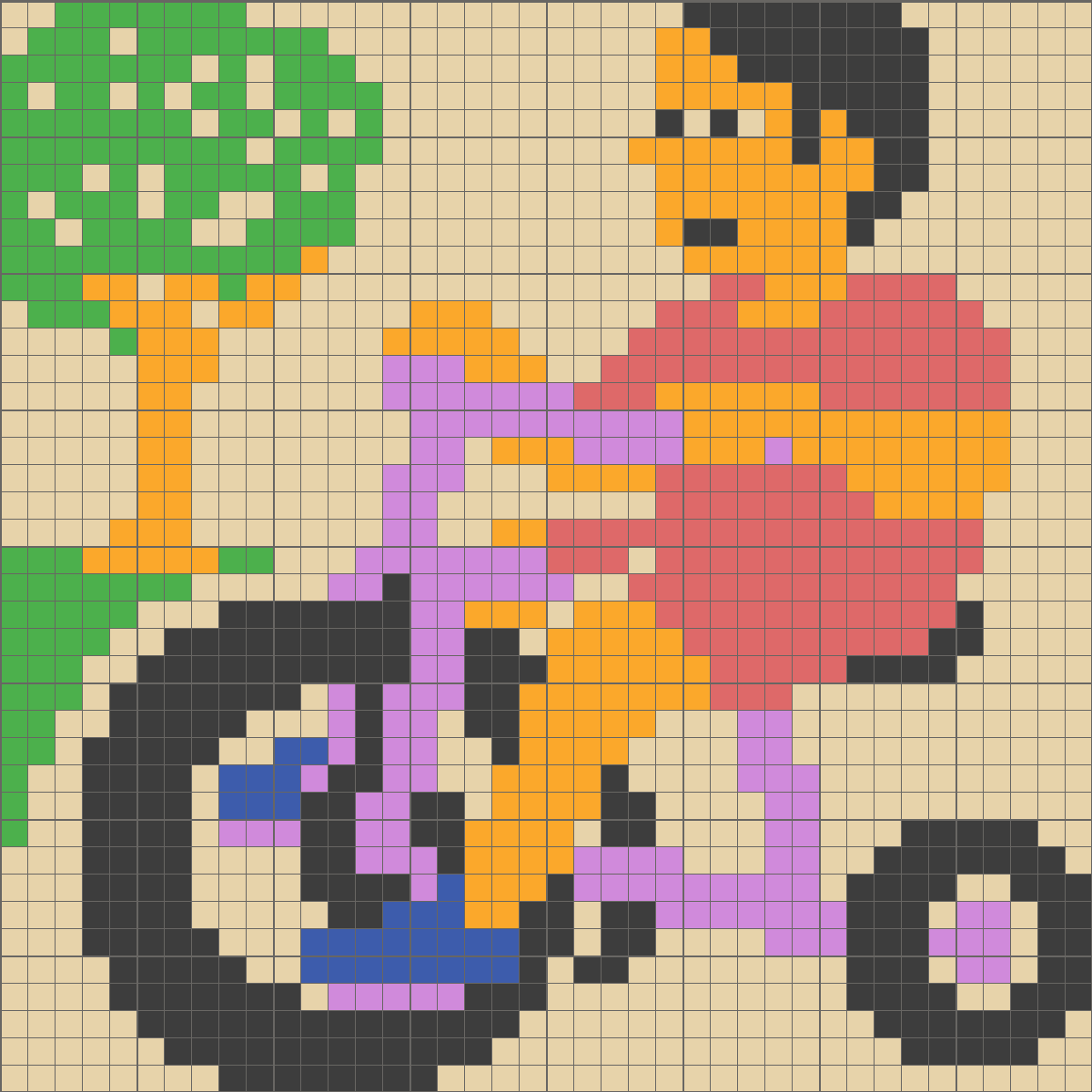 Solution for color CrossMe Level 7.28 - Bicyclist