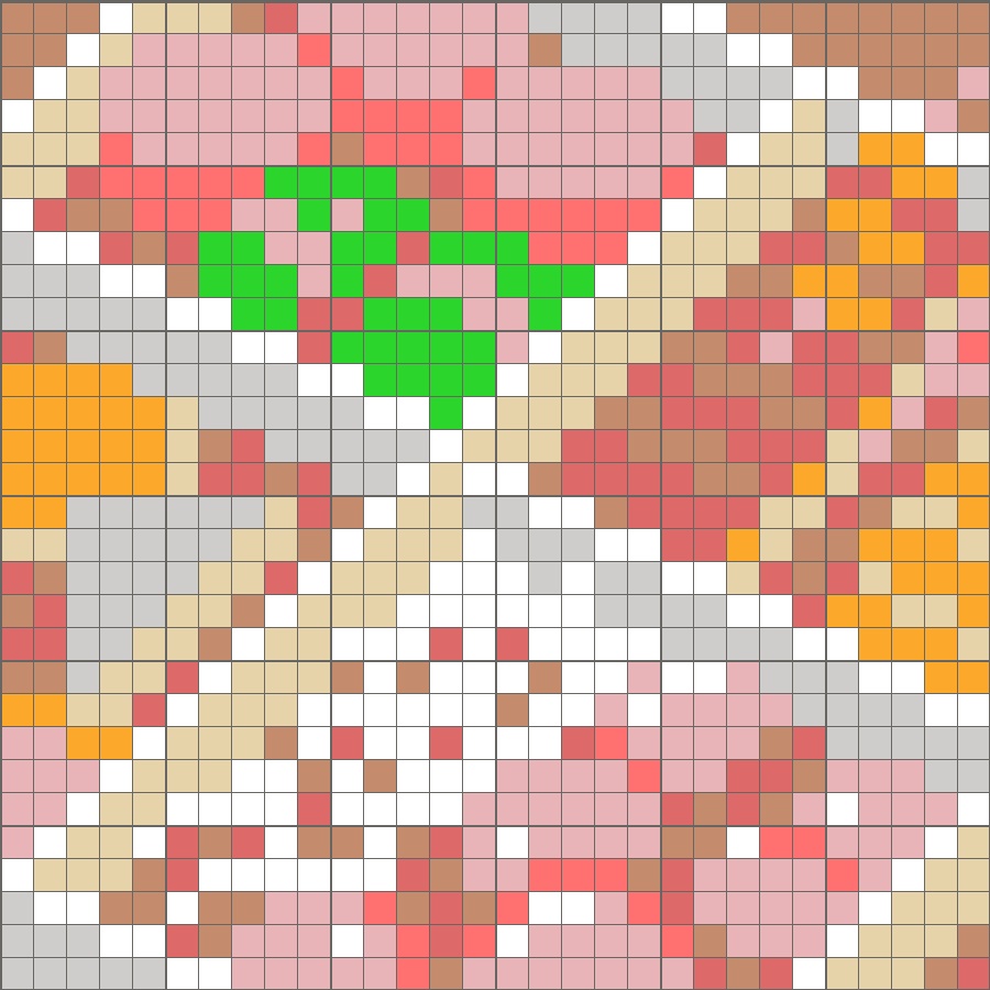 Solution for color CrossMe Level 7.3 - Meal