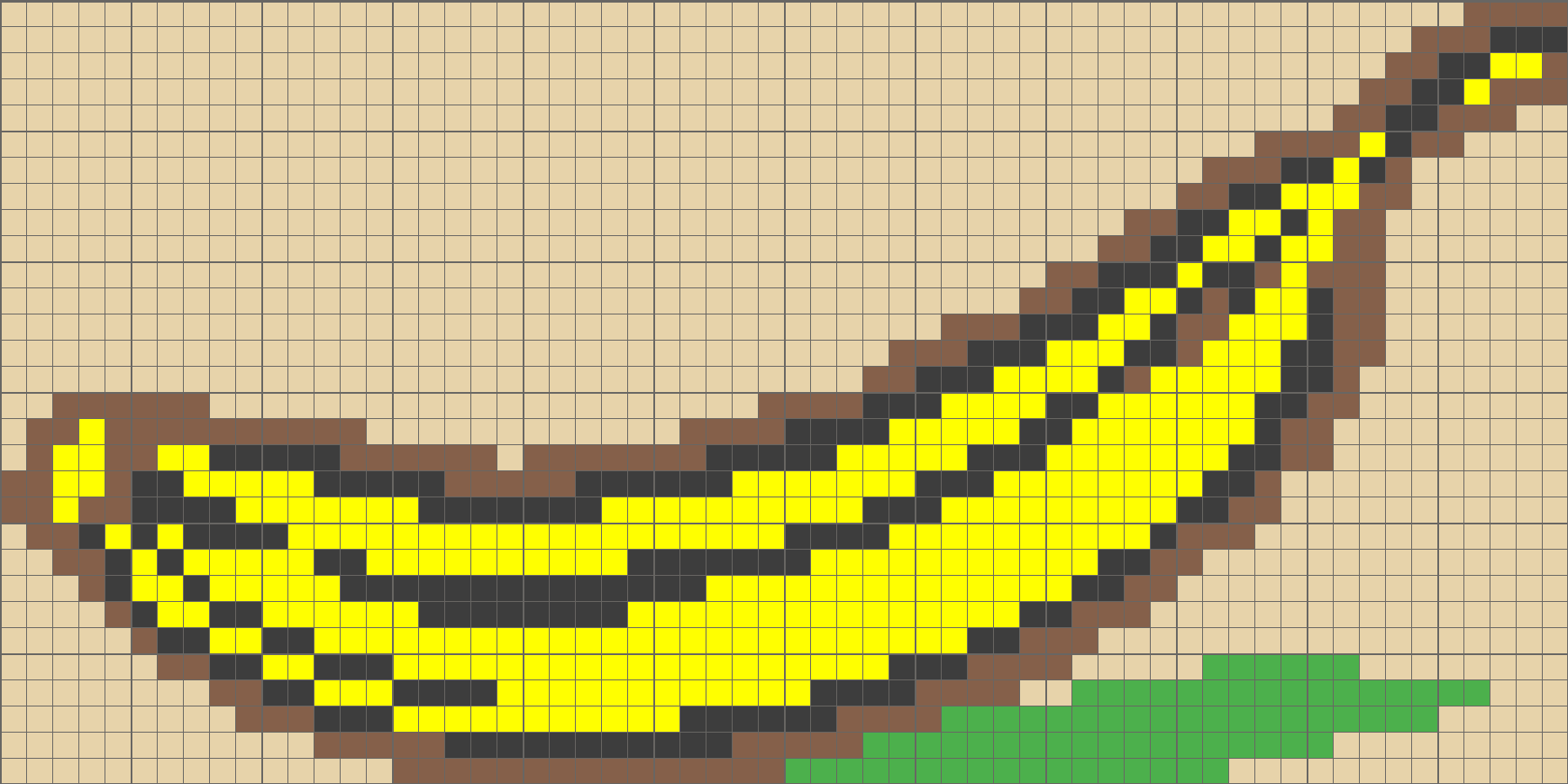 Solution for color CrossMe Level 7.60 - Banana