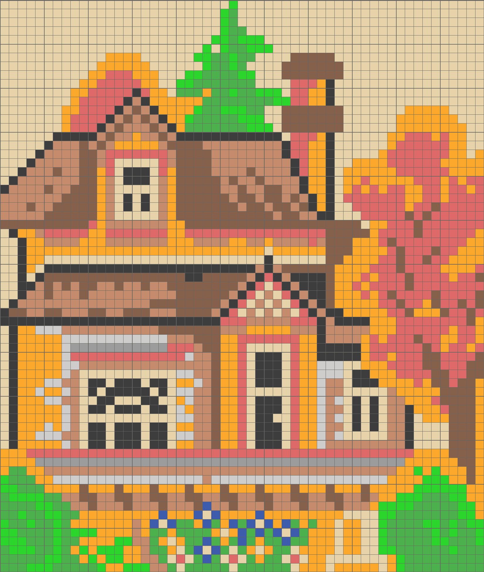 Solution for color CrossMe Level 8.3 - House
