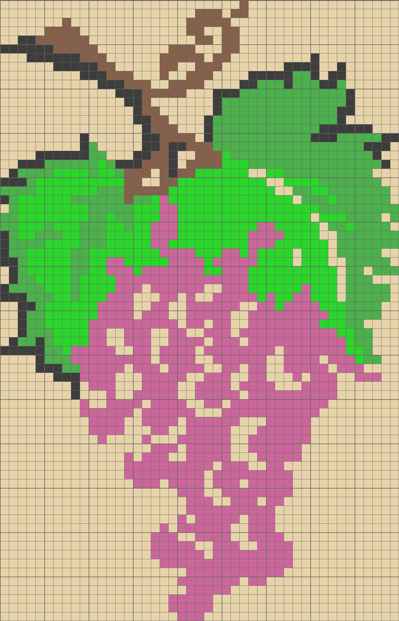 Solution for color CrossMe Level 8.44 - Grapes